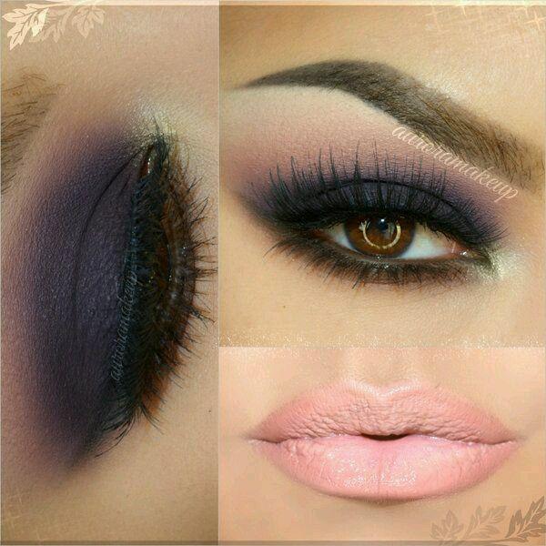 Maquillaje de ojos ahumados en diferentes tonos