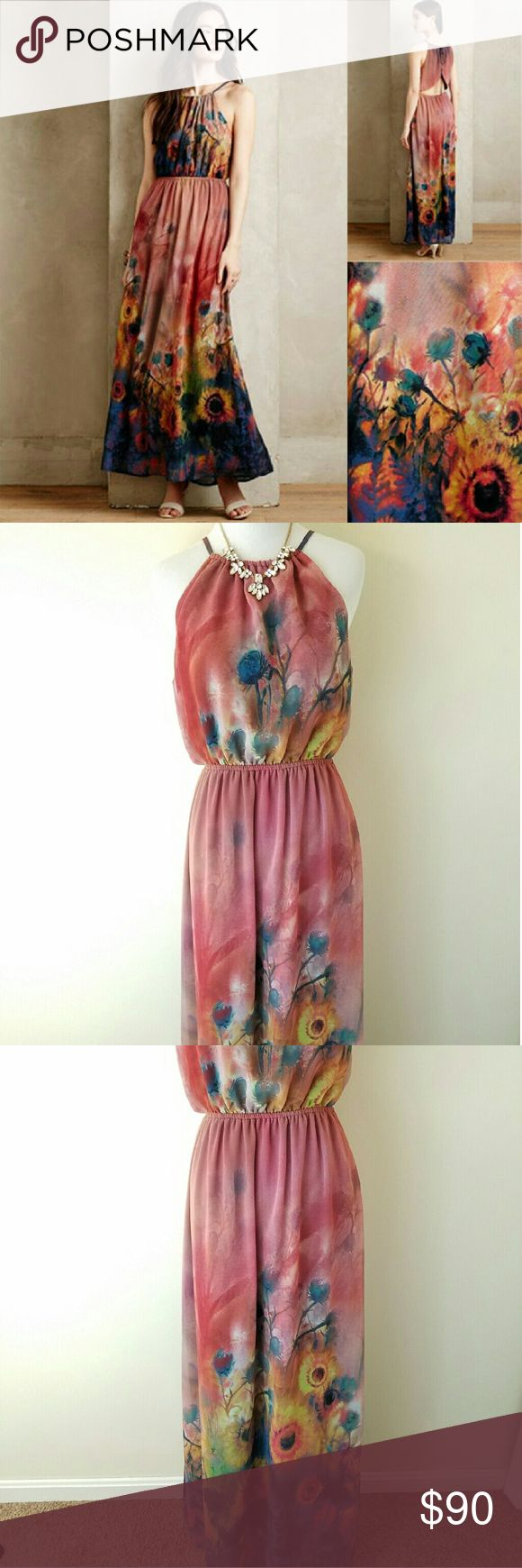 Anthropologie brand label maxi dress size medium M Like new! Worn once to an event! This dress is amazing! I got its of compliments:) Anthropologie Dresses Maxi