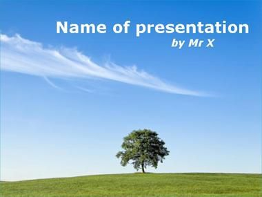 Lone tree in the countryside Powerpoint Presentation Template