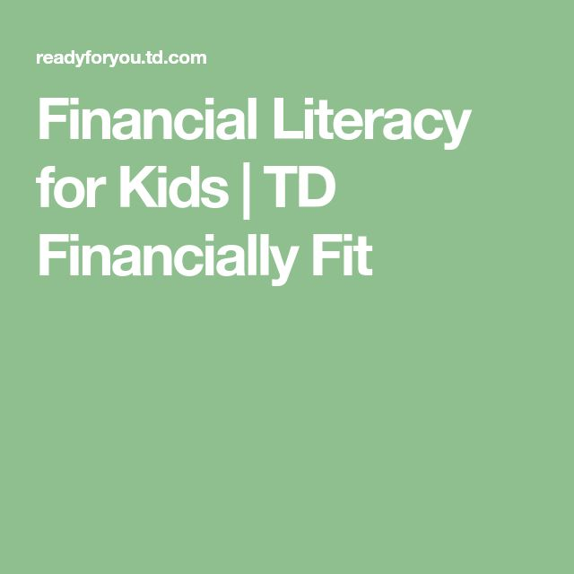 Financial Literacy for Kids | TD Financially Fit