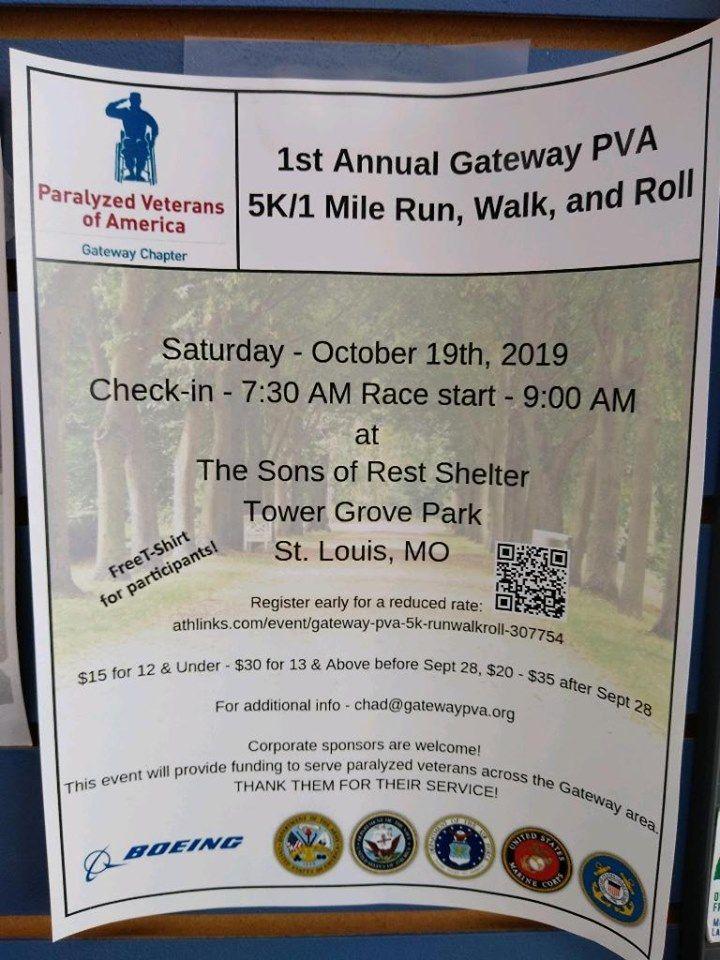 Gateway PVA 5k/1 Mile Run/Walk/Roll, October 19, 2019 900