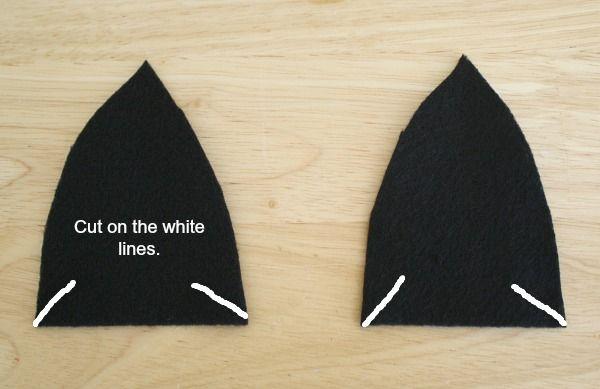 where to cut ears - bat ears for costume