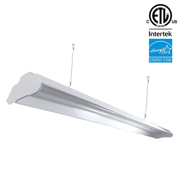ARCHIPELAGO Utility LED Shop Light, 4FT Integrated LED Shop Light Fixture with 5FT cord, 36W, 3200 Lumens, 4100K (Bright White), Frosted Lens (LED Lights Included)