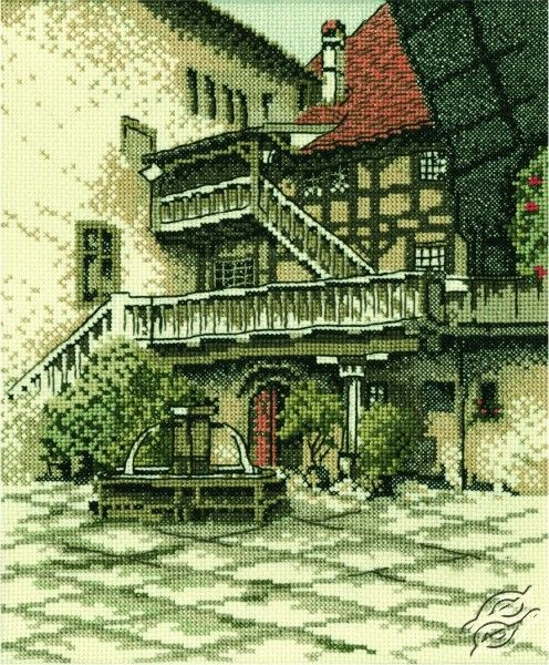 Castle Courtyard - Cross Stitch Kits by RTO - R139