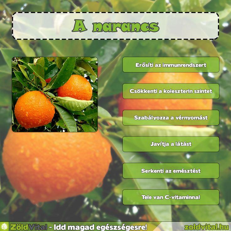A narancs jótékony hatásai
