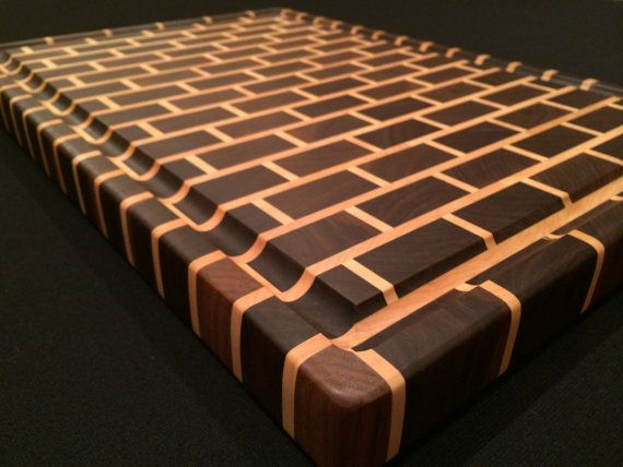 An absolutely gorgeous end grain cutting board! …