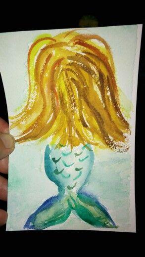 Mermaid tiny #watercolour