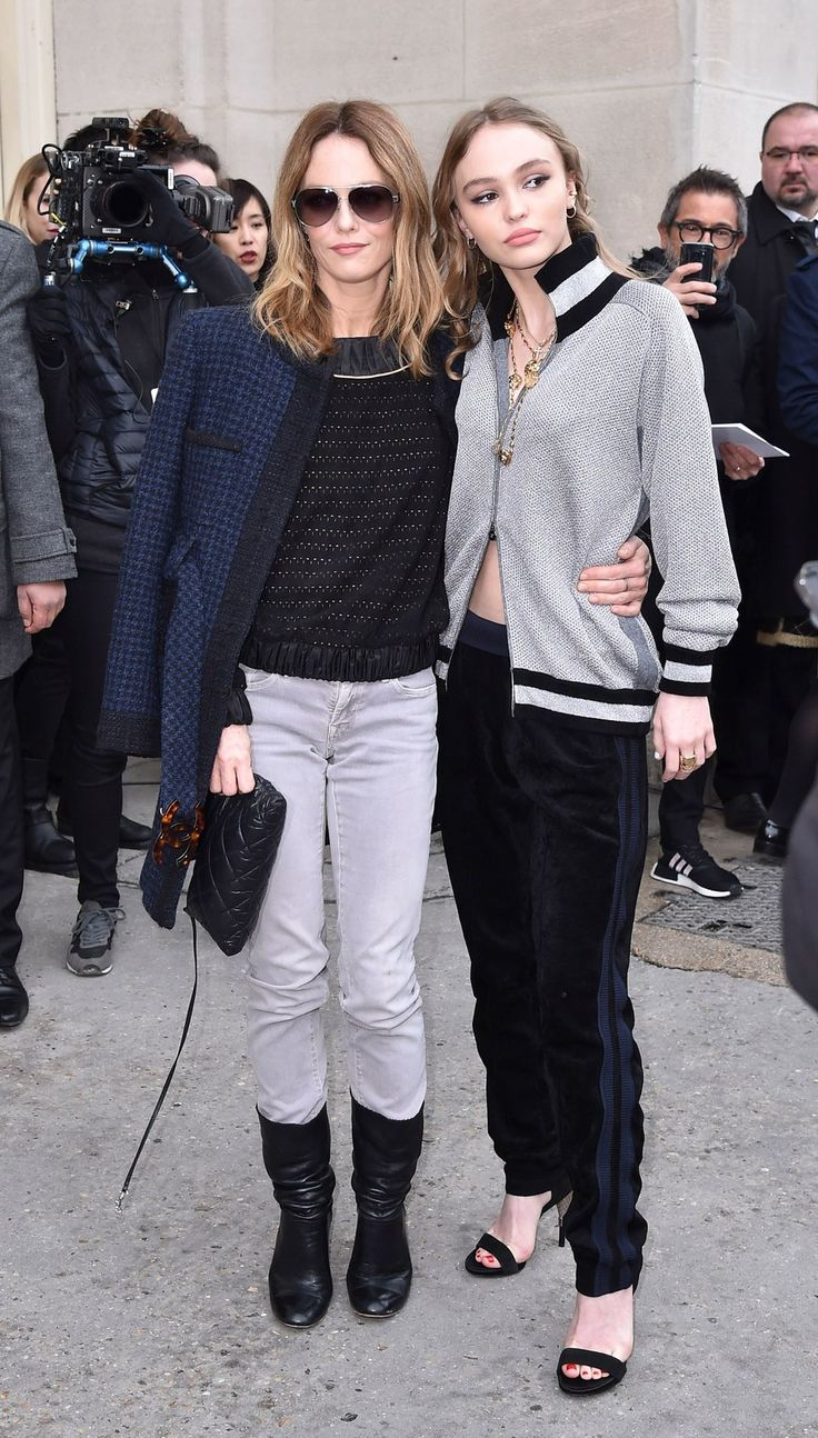 Arriving at Chanel in perfectly coordinated looks, Lily-Rose Depp and Vanessa Paradis proved style runs in the family.