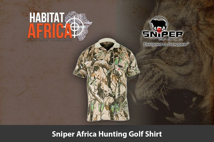 Sniper Africa hunting golf shirt is designed to offer the avid hunter the…
