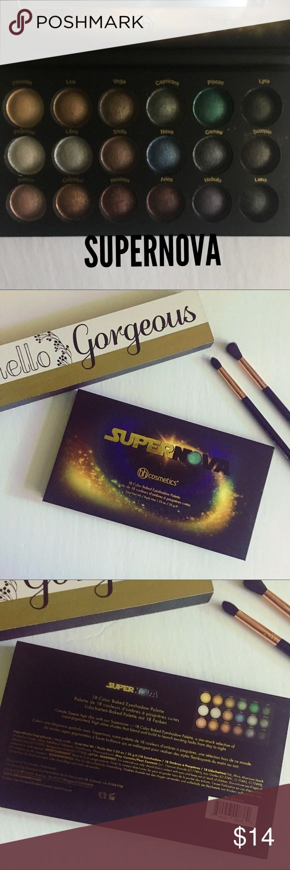 ⭐️SUPERNOVA EYESHADOW PALETTE⭐️ ⭐️SUPERNOVA EYESHADOW PALETTE⭐️BRAND NEW IN BOX! This star-struck selection of super-pigmented, high-shine shades includes moody blues and greens, eye-popping teal and turquoise, plus deep neutrals for definition. The ultra-soft shadows are buildable, blendable and guaranteed to put a sparkle in your eyes. Launch exciting looks from day to night -- the sky is the limit! (From bh cosmetics website) ⭐️BUNDLE & SAVE⭐️ bh cosmetics Makeup Eyeshadow