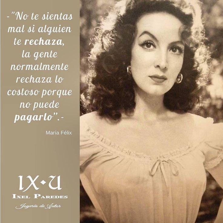 María Félix actriz y cantante mexicana. Es considerada una de las figuras femeninas más importantes de la llamada Época de Oro del Cine Mexicano #ladiva #ladoña #mariafelix #frases