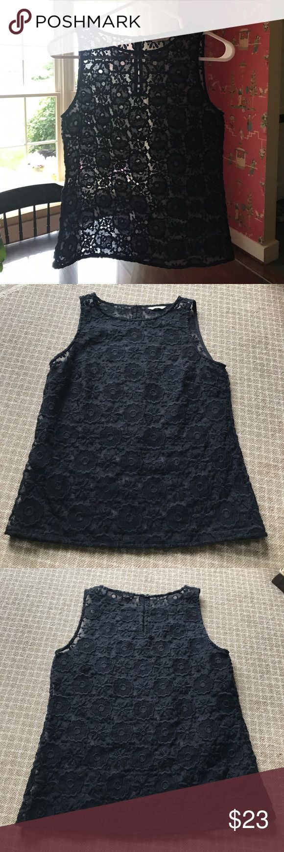 Black Tank Gorgeous dressy black sleeveless top! Subtle yet classic design makes this black top an interesting addition to any plain outfit! Perfect for work, dinner dates, or parties! Excellent like new condition. Jack Wills Tops Tank Tops
