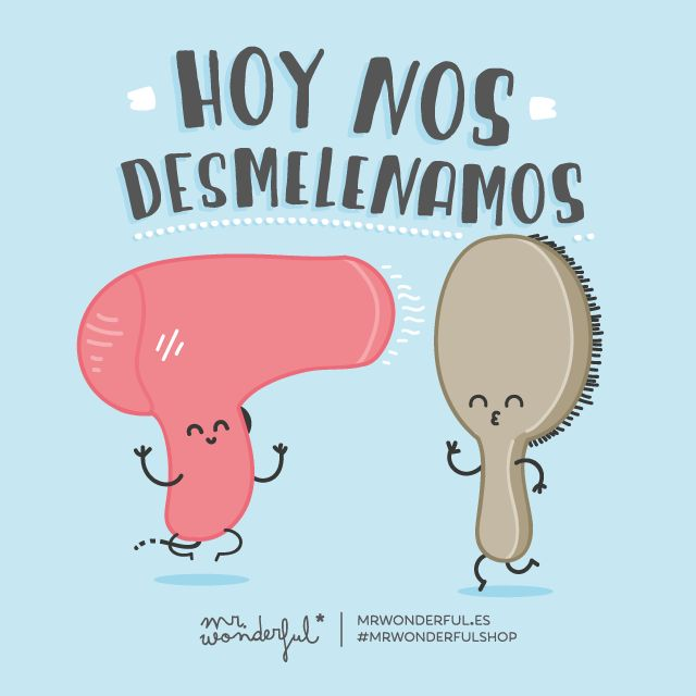 ¡Hoy nos desmelenamos! | by Mr. Wonderful* #compartirvideos #imagenesdivertidas…