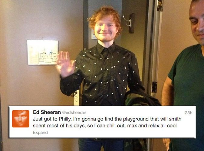 funny ed sheeran tweets | ed sheeran fresh prince