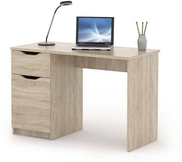 Schreibtisch Westphalen In Weiss Oder Sonoma Eiche Schreibtisch