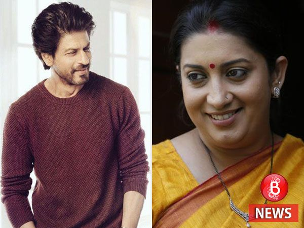 Shah Rukh Khan has a special connection with Smriti Irani's daughter. Find out what