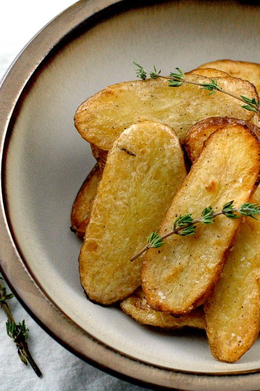 Salt and Vinegar Broiled Fingerling Potatoes...if these are half as good as I think then I've died and gone to heaven!!