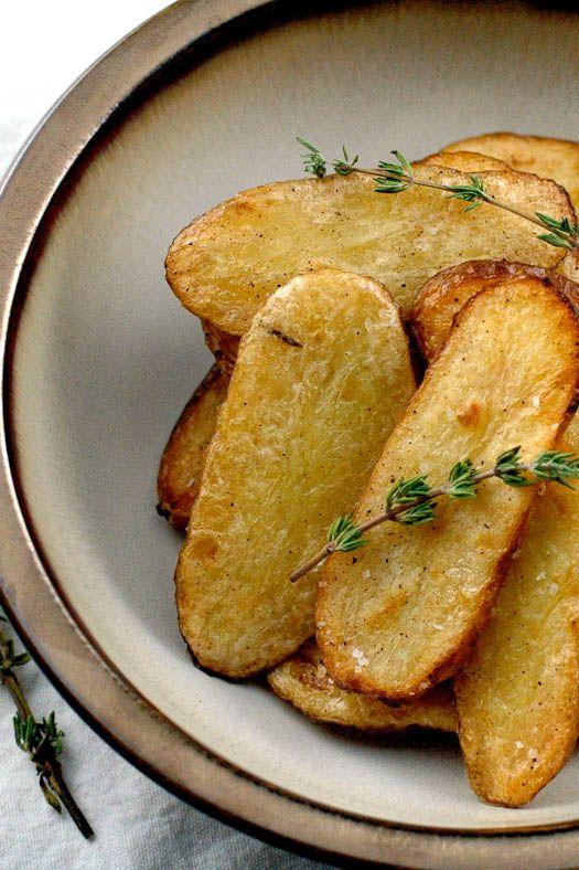 Salt and Vinegar Broiled Fingerling Potatoes. Mmmm...