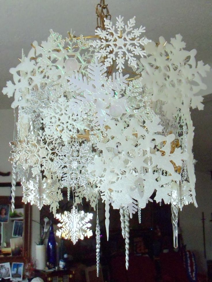 make the best of things wintry snowflake chandelier dollar store decor could i do this in my dining room