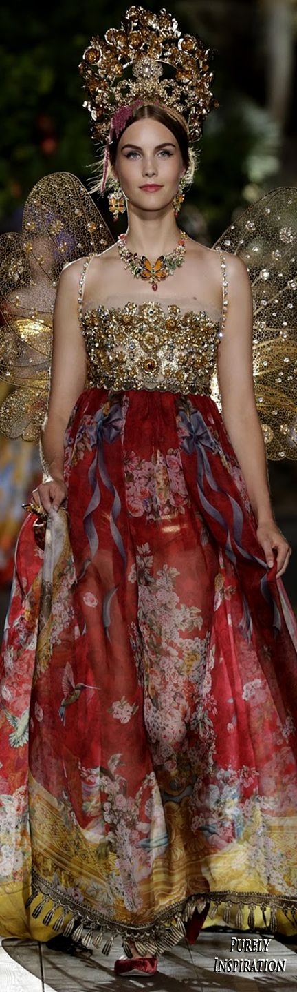 Dolce & Gabbana Alta Moda Premiere 2015, A Midsummer Night's Dream Collection | Purely Inspiration