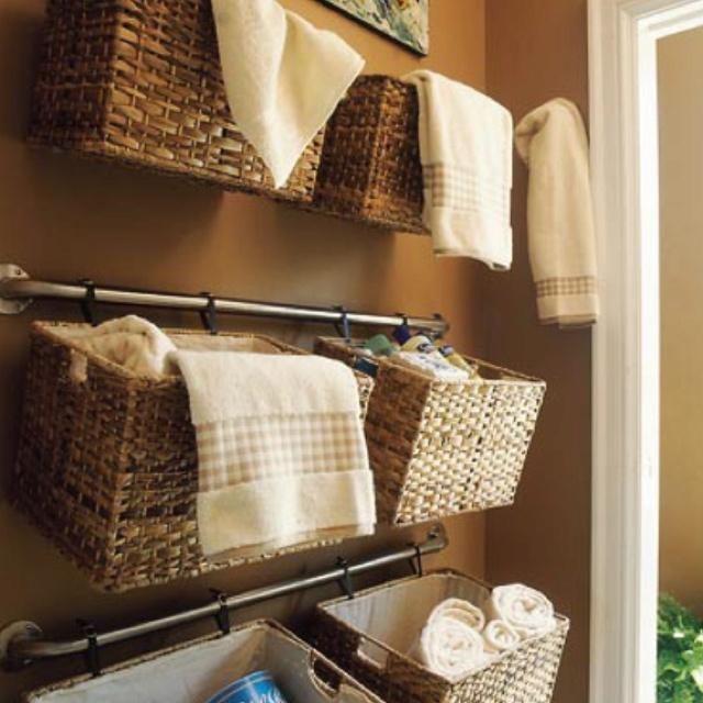 // Master bathroom closet (for the closet in the bathroom) organization