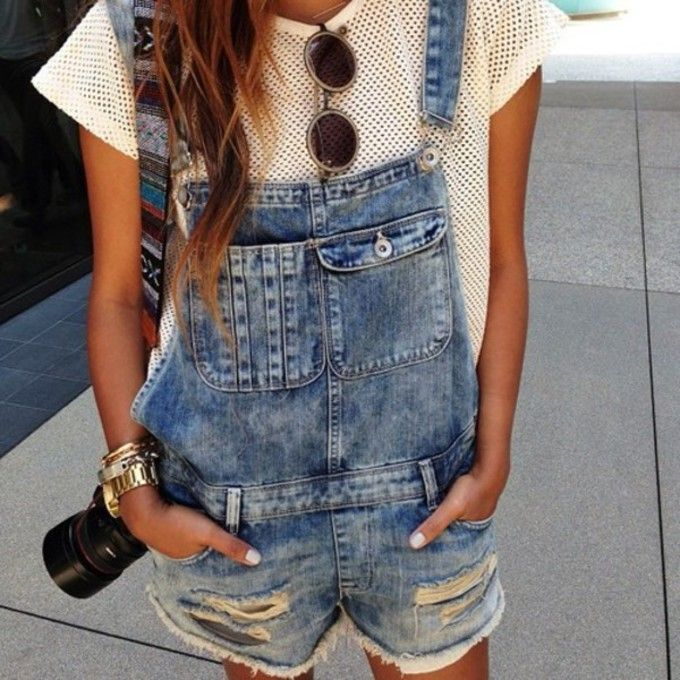 denim overalls. I actually really like this look:)