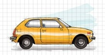 The 1st generation Honda Civic came out in 1972
