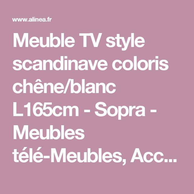 25 best images about Meuble Tv Style Scandinave on ...