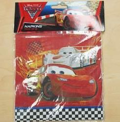 A068226 - Disney Cars Napkins  Please note: approx. 14 day delivery time. www.facebook.com/popitinaboxbusiness