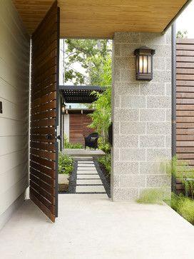 Cohen Residence Entry Path modern landscape