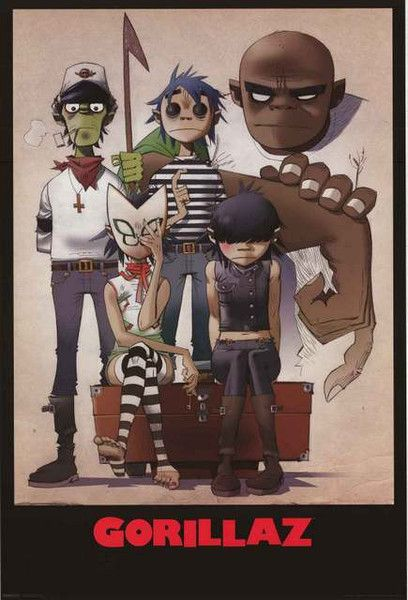 "An awesome band portrait poster of your favorite ""virtual band"" - Gorillaz! Who knows...a reunion could be just around the corner. Fully licensed - 2015. Ships fast. 24x36 inches. Need Poster Mounts.."