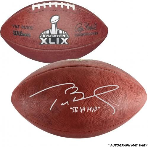 "Tom Brady New England Patriots Autographed Super Bowl XLIX Pro Football with ""SB 49 MVP"" Inscription"