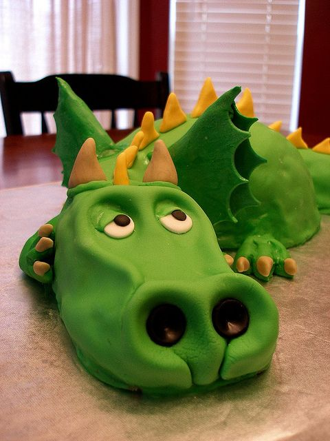 YUSS, thanks Alissa, provided Theo is still obsessed with dragons, I can finally make a cake for Theo without WHEELS!  Haha
