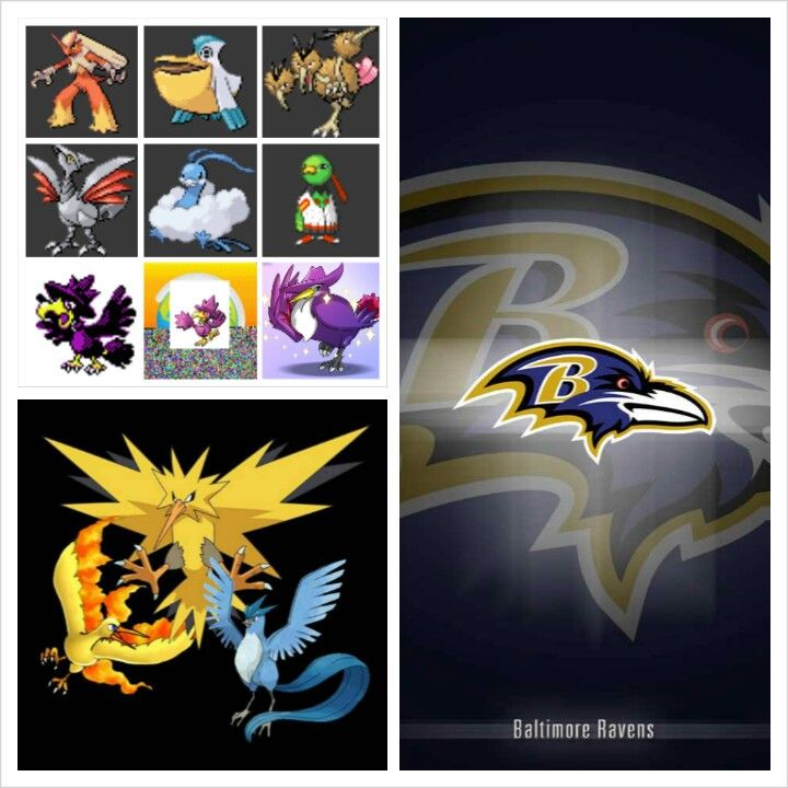 Blaziken, Pelipper, Dodrio, Skarmory, Altaria, Xatu, Two Shiny Murkrows, Shiny Honchkrow, Articuno, Zapdos, Moltres and Alan Egdar and Poe the Baltimore Ravens!!! :D