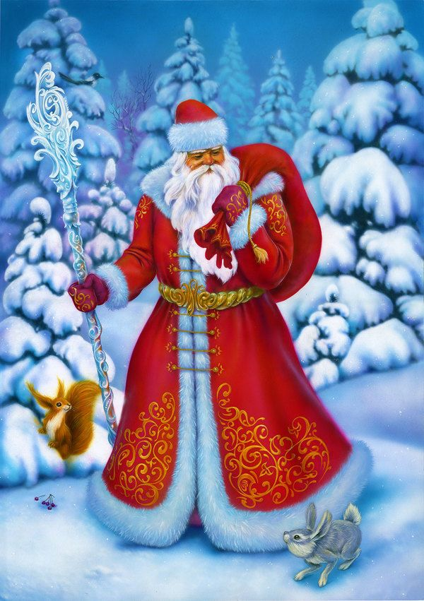 Christmas & New Year greeting cards illustrations set on Behance