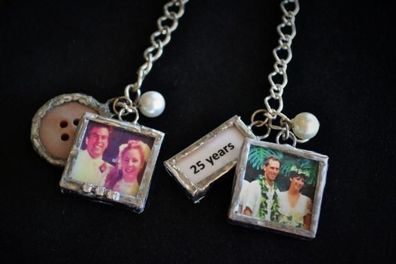 Custom glass photo memory charm cha cha bracelet Mom Mothers day gift keepsake