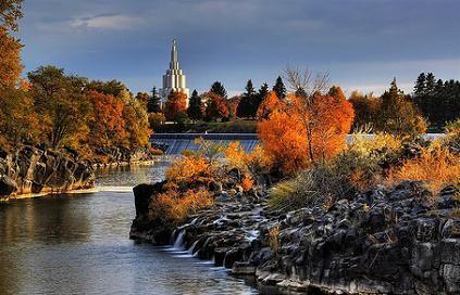 Idaho Falls | idaho falls in autumn