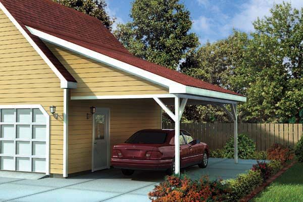 17 best images about carport on pinterest carport plans for Attached garage kits