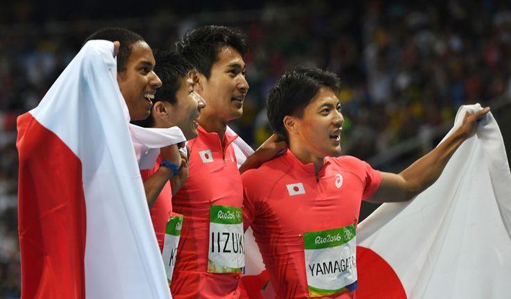 <五輪陸上>短距離、見せた四重奏…銀の走り、世界も絶賛 #リオ五輪 #陸上