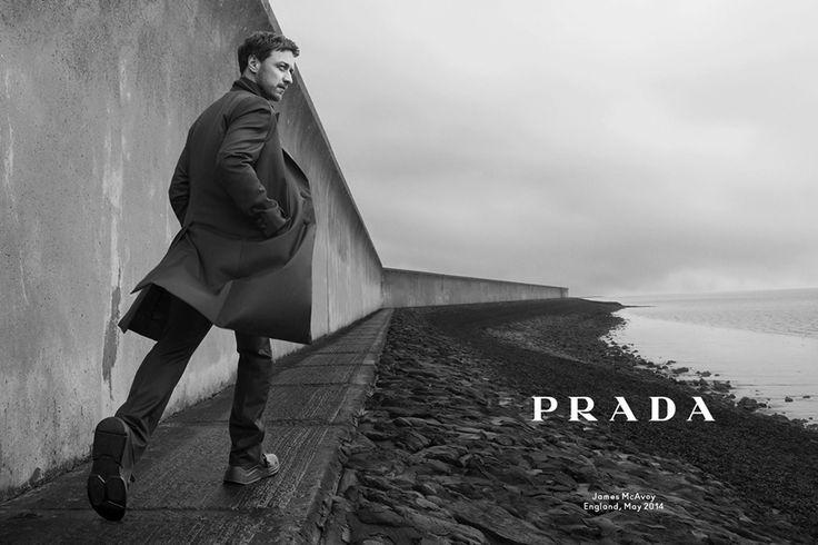 FASHIONIGHTS » » Ad Campaign | Prada Man F/W 2014 ft. James McAvoy by Annie Leibovitz