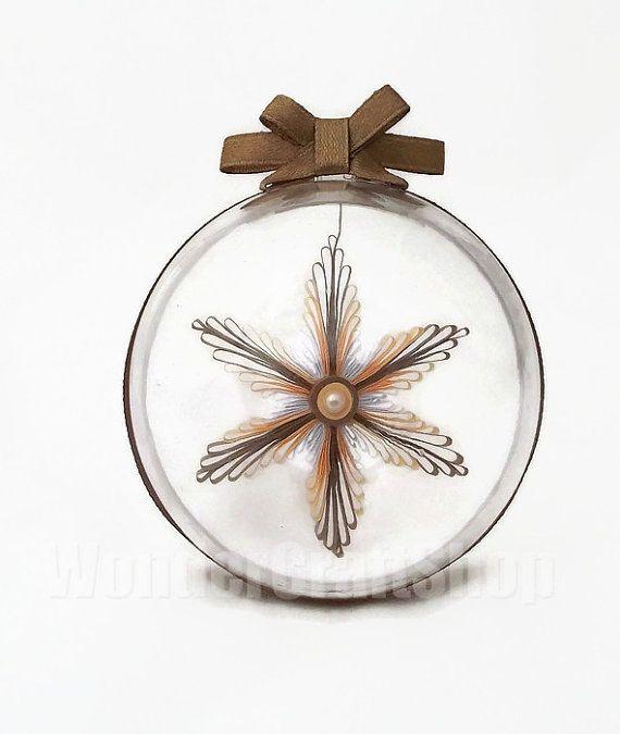 handmade christmas snowflake christmas tree by WonderCraftShop