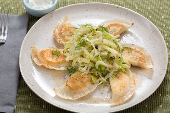 Crispy Ricotta Pierogi with Warm Apple-Cabbage Salad & Browned Butter ...