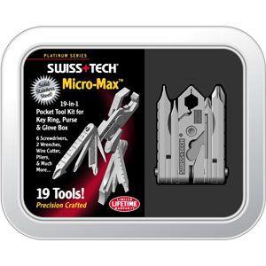 Swiss+Tech Palm-Grip Micro-Max Xtreme Pocket Tool Kit https://www.tripleclicks.com/17514443/detail.php?item=361661