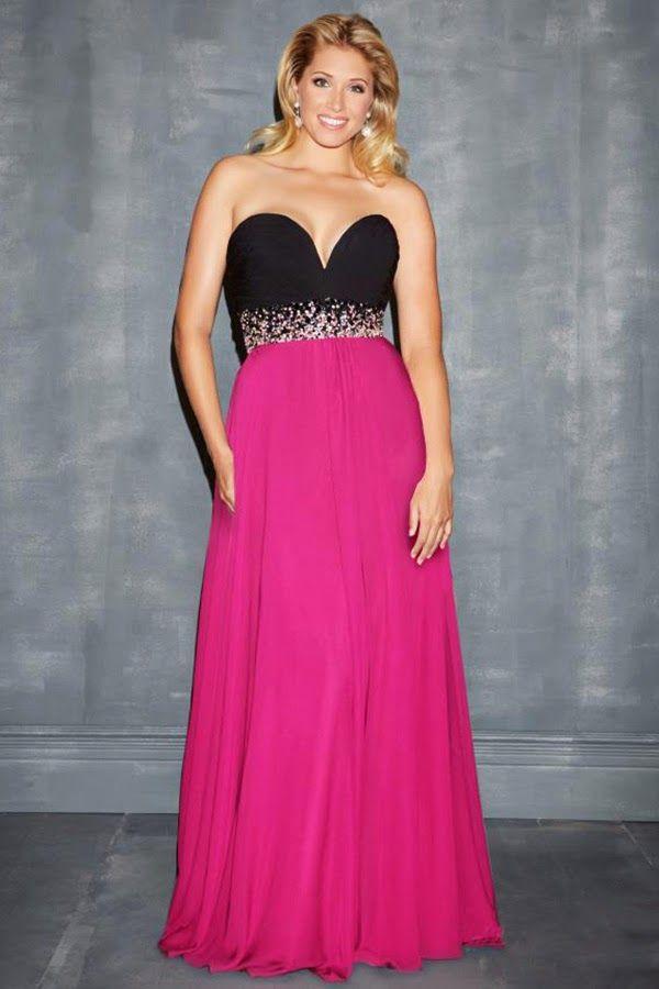 Moda 2014 vestidos de noche para gorditas – Moda Española moderna