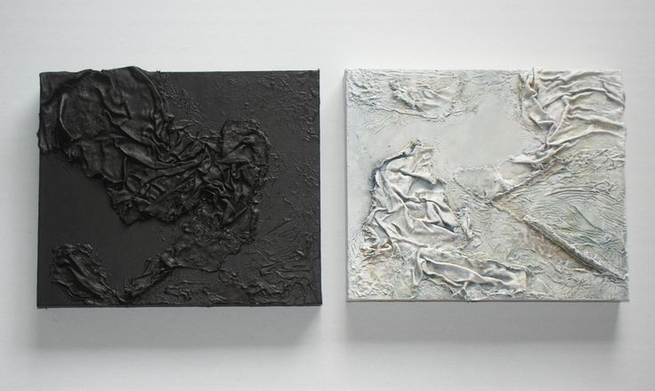 Two essays in Texture - fabric and acrylic on canvas. Exhibited at Art Studios Cooperative, Gosford NSW Australia Sept 2016