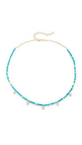 Jacquie Aiche JA Turquoise Choker Necklace