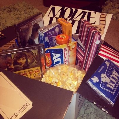 Date night - movie night | ideas / gifts | Pinterest