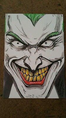 Sketch Card The Joker ooak copic ACEO