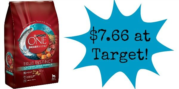 Target: Purina ONE Dog Food Only $7.66!