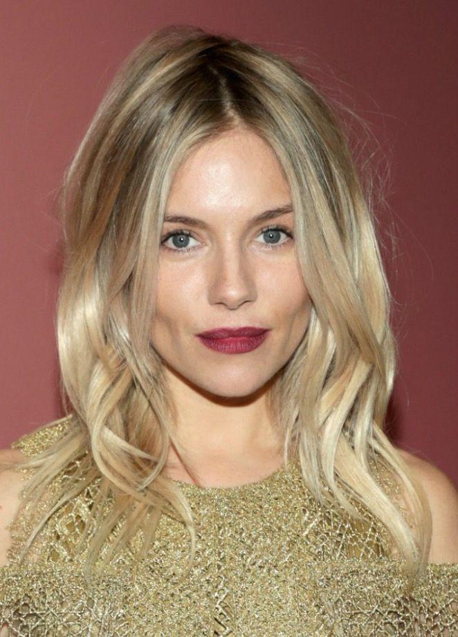 Sienna Miller's Bordeaux lip.